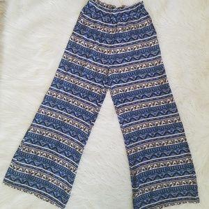 Forever 21 wide leg boho pants